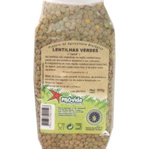 Lentilhas Verdes Bio 500gr