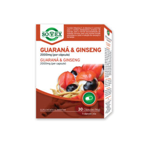 GUARANA E GINSENG 30 CAPS - Sovex
