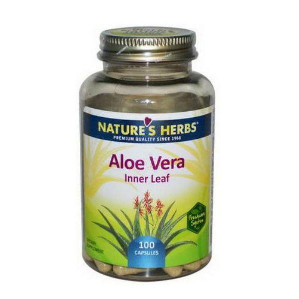 Aloe Vera Inner Leaf 100 Cápsulas - Nature's Herbs