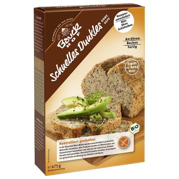 BAUCK HOF PREP. PAO ARROZ INT.BIO - De fácil preparação - Para preparar um pão com farinha de arroz integral, sem glúten - Com esta embalagem pode obter um pão com aproxim. 800g