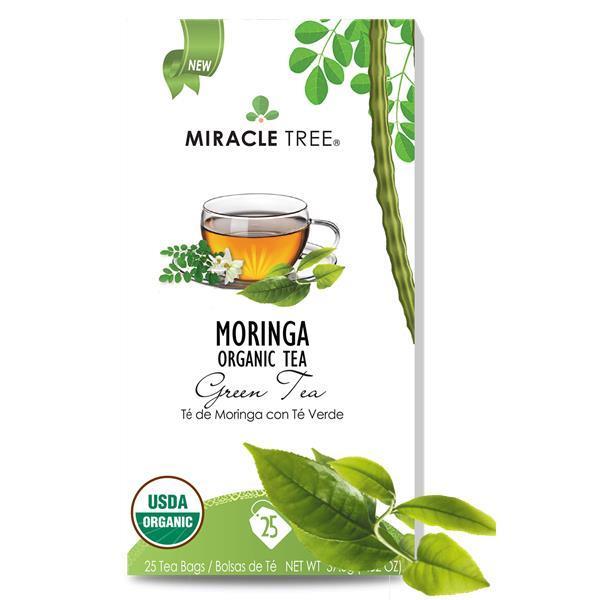 Chá moringa e chá verde