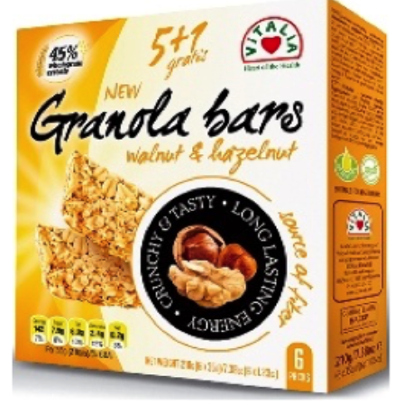 barrita de granola com noz e avelã caixa de 6