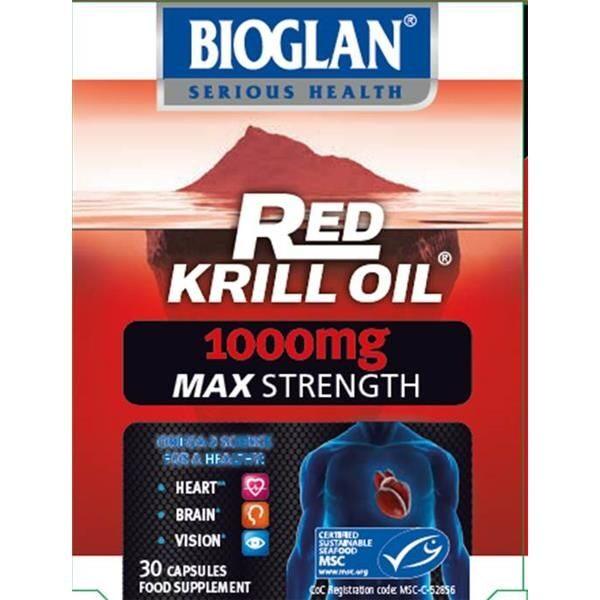 BIOGLAN RED KRILL OIL MAX 1000MG