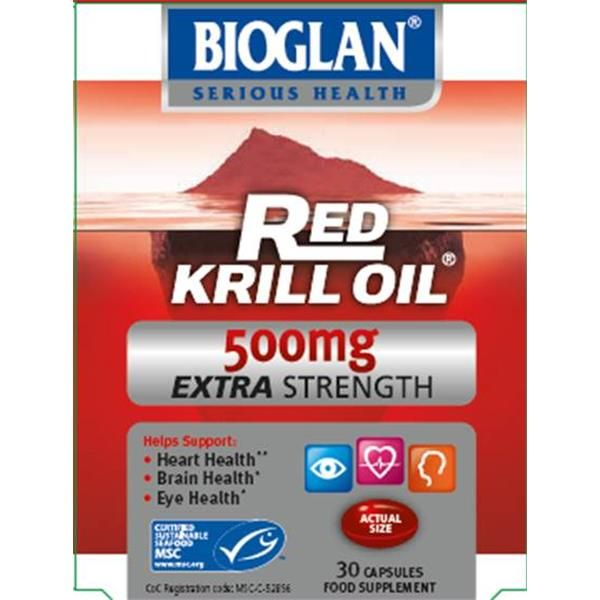 BIOGLAN RED KRILL OIL EXTRA 500MG 30 CAP