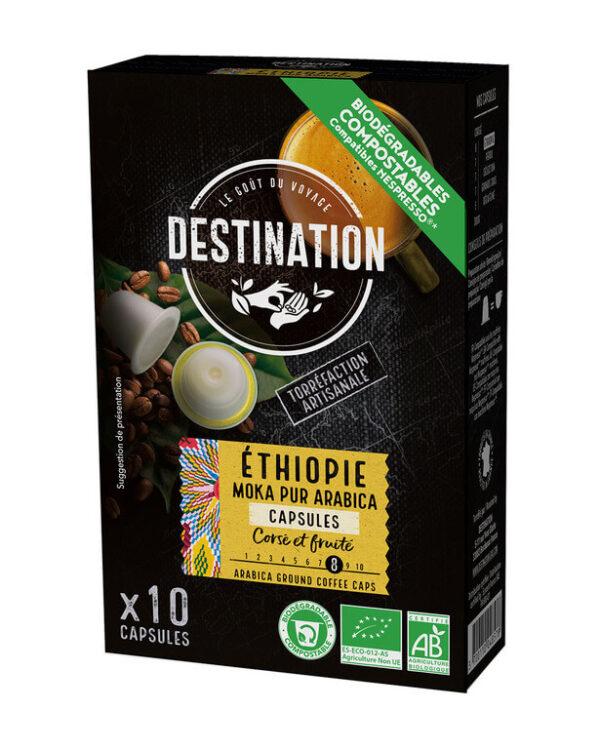 Café Etiópia-Moka Puro Arábica cápsulas BIO - Destination